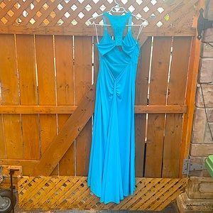 Jessica McClintock long open back dress